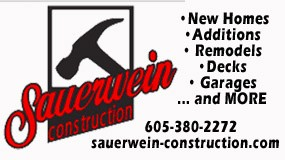Sauerwein Construction in  Aberdeen, SD small ad