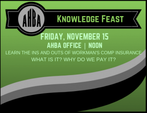 Knowledge Feast @ AHBA Office